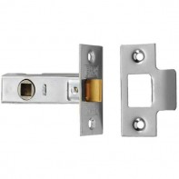 """From The Anvil Nickel Plated 2.5"""" Tubular Mortice Latch - Nickel Plated"""