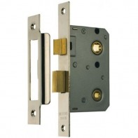"From The Anvil Nickel Plated 2.5"" Bathroom Mortice Lock"