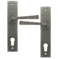 From The Anvil Pewter Patina Unsprung Avon Espag. Lock Set 92mm Centres