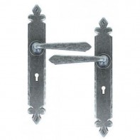 From The Anvil Pewter Patina Cromwell Sprung Lever Lock Handle Set