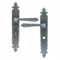 From The Anvil Pewter Patina Cromwell Sprung Lever Bathroom Handle Set