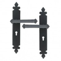 From The Anvil Black Tudor Unsprung Lever Lock Handle Set