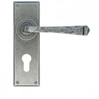 From the Anvil Pewter Patina Avon Euro Lever lock Set