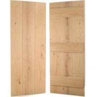 European Oak Ledged Wide Board Internal Door