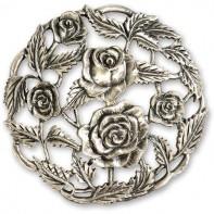 Pewter Lid - Rose