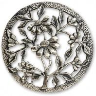 Pewter Lid - Flowers