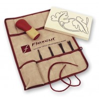 Flexcut Palm Tool SK Travel Set and SlipStrop - PACKAGE DEAL