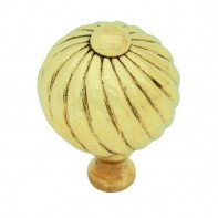 From the Anvil Polished Brass Small Spiral Cabinet Knob