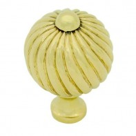 From The Anvil Polished Brass Medium Spiral Cabinet Knob