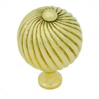 From The Anvil Polished Brass Large Spiral Cabinet Knob