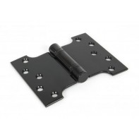 "From The Anvil 4""x3"" Ball Bearing Parliament Hinge SS (pair) - Black"