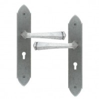 From The Anvil Pewter Patina Gothic Unsprung Lever Lock Set