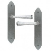From The Anvil Pewter Patina Gothic Unsprung Lever Latch Set