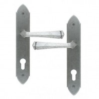 From The Anvil Pewter Patina Gothic Unsprung Espag Locking Set 92mm Centres