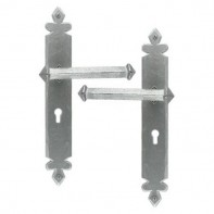 From The Anvil Pewter Patina Tudor Unsprung Lever Lock Set