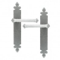 From The Anvil Pewter Patina Tudor Unsprung Lever Latch Set