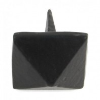 From The Anvil Black Pyramid Door Stud 1""