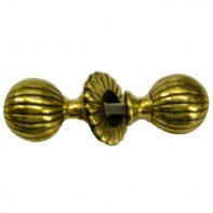 From The Anvil Polished Brass Flower Mortice Knob Set