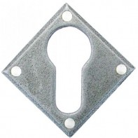 From The Anvil Pewter Patina Diamond Euro Escutcheon