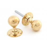 From The Anvil Polished Brass Ball Mortice Knob Set