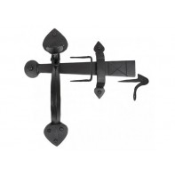 From The Anvil Black Handmade Gothic Thumblatch