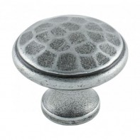 From The Anvil Pewter Patina Beaten Knob 1 1/4inch