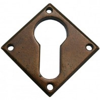 From the Anvil Bronze Diamond Euro Escutcheon