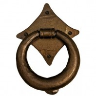 From the Anvil Bronze Ring Door Knocker 5inch