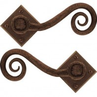 From the Anvil Bronze Monkeytail Unsprung Handle Set on Diamond Rosette