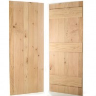 European Oak Ledged Internal Door