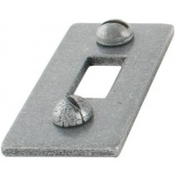 "From The Anvil Pewter Patina Receiver Plate For 4"" Cranked Bolt"