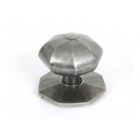 From The Anvil Octagonal Centre Door Knob - Pewter