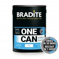 Bradite OC64 One Can Primer and Finish, White, 1ltr