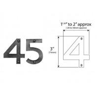 "Finesse Genuine Pewter 75mm (3"") Door Numbers"