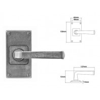 Finesse Lever on Jesmond Short Latch Backplate