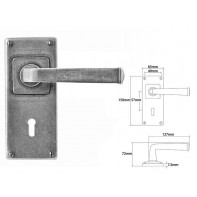 Finesse Lever on Jesmond Lock Backplate
