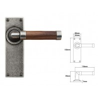 Finesse Lever on Latch Backplate (American Black Walnut)