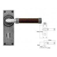 Finesse Lever on Bathroom Backplate (American Black Walnut)