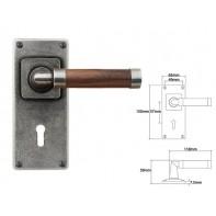 Finesse Lever on Jesmond Lock Backplate (American Black Walnut)