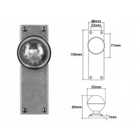 Finesse Door Knob on Latch Backplate