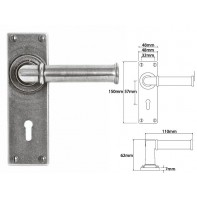 Finesse Lever on Lock Backplate