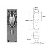 Finesse Door Knob on Bathroom Backplate