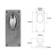 Finesse Door Knob on Jesmond Long Latch Backplate