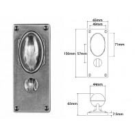 Finesse Door Knob on Jesmond Bathroom Backplate
