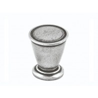 Finesse Haxby Genuine Pewter Cabinet Knob (Includes Backplate)