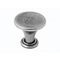 Finesse Savoy Genuine Pewter Cabinet Knob (Includes Backplate)
