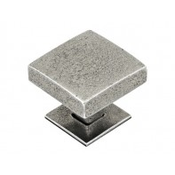 Finesse Healey Genuine Pewter Cabinet Knob (Includes Backplate)