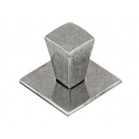 Finesse Taper Genuine Pewter Cabinet Knob (Includes Backplate)