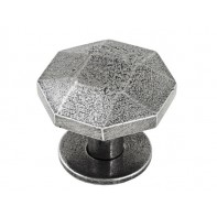 Finesse Tunstall Genuine Pewter Cabinet Knob (Includes PBP015 Backplate)