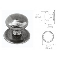 Finesse Genuine Pewter Centre Door Knob (three piece)